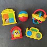 Vintage Fisher Price Mcdonald's 1996 Baby Happy Meal Toys Lot Of 5 Barn Stereo