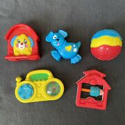 Vintage Fisher Price Mcdonald's 1996 Baby Happy Meal Toys Lot Of 5 Puppy Stereo