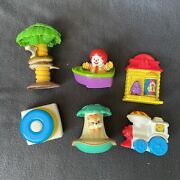 Vintage Fisher Price Mcdonald's 1996 Baby Happy Meal Toys Ronald Mcdonald Train
