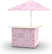Best Of Times 2001w2501 Girls Portable Bar And 8 Ft Tall Square Umbrella, Water