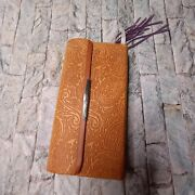 1982 Thomas Nelson Small Nkjv Bible Brown In Enclosed Case With Paisley Design