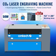 Co2 Laser Engraver 50w 20x12 Inch/50x30cm Engraver Cutter W/ Fume Extractor