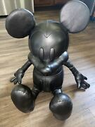 Coach Disney Large Mickey Mouse Stuffed Leather Plush Toy Rare Collectible 75th