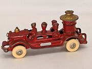 Antique 1920and039s Kenton Cast Iron Fire Pumper Truck 7 Inches Long