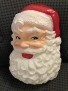 Vtg Antique Early Plastic Celluloid Santa Face Christmas Wall Hanging No Light
