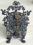 Clock Silver Miniature Viennese Work Second Partf Of The 19th Century Circa 1870