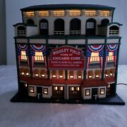 Department Dept 56 Christmas In The City Cubs Wrigley Field Stadium World Series