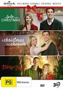 A Gift For Christmas + A Christmas To Cherish + Merry And Bright Dvd Hallmark