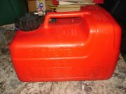 Nissan 3 Gallon Scepter Fuel Gas Tank Outboard Motor Tank Red Plastic Used Nice