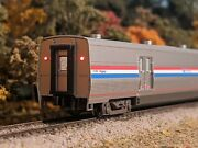 Custom Kato N Scale Amtrak Viewliner Baggage 61058 Interior Lighted And Markers