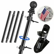 Iiope 6 Ft Flag Pole Kit For House 1 American Metal Flagpole With Holder Mount