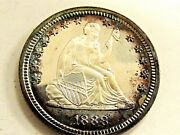 1888 Seated Liberty Silver Quarter It Doesn't Get Better Than This Rare