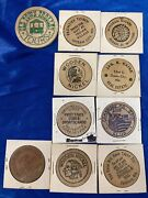 10 Wooden Nickels-amusementreal Estatecoin Clubandstoregas Station And Campaign