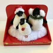 Dan Dee Animated 3 Penguins Singing Christmas Song Wiggles Lights Up Plush Video