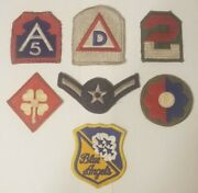 Lot 6 Original Wwii Us Army Airforce Patches Awesome Lot Plus Bonus Blue Angels