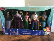Disney's The Little Mermaid Ariel Deluxe Doll Gift Set Vanessa Doll New In Box