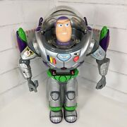 Toy Story Ultra Buzz Lightyear Alarm Clock Action Figure Thinkway Tested Working