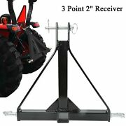 Black 3 Point 2 Receiver Trailer Hitch Category 1 Tractor Tow Draw Bar Pull
