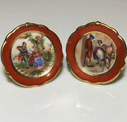 Vintage Limoges Porcelain Miniature Plates Made In France With Stand