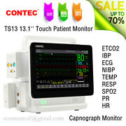Ts13 13.3'' Touch Plug-in Patient Monitor Capnograph Etco2+ibp 6 Parameters Co2