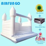 Inflatable White Wedding Jumper Pvc Inflatable Bouncy Castle Bridal Bounce House