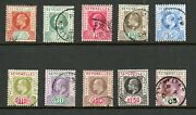 Seychelles, Part Set To R2.25 Purple And Green, Ex Sg 46 - 56, Fu, 1903