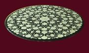 36 Marble Dining Table Top Inlay Rare Stones Round Center Coffee Table Ar1081