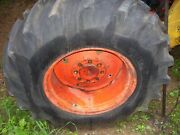 Vintage Ji Case 430 Tractor -2 -14.9 X 24 Rear Tires And Wheels - Read Listing