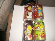 Set Of 4 The Simpsonand039s Soda Cans Empty Canadian Free Shipping