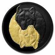 2021 Canada 20 - Black And Gold The Grey Wolf 1oz Silver - Royal Canadian Mint