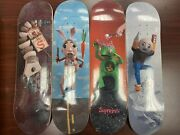 Brand New Supreme Mike Hill Skateboard Deck Set Of 4 Ss17 Box Logo - Authentic