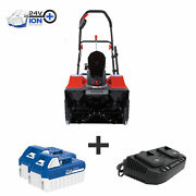 Snow Joe 48-volt Cordless Snow Blower   18-inch   2 X 4.0-ah Batteries And Charger