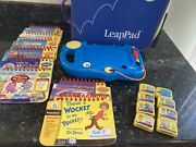 Leapfrog My First Leappad Learning System Binder 8 Books Cartridges Lot