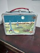 Vintage 1958-60 Outer Space Metal Lunch Box By Thermos