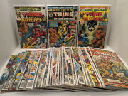 Lot Of 38 Marvel Two-in-one Comics The Thing Bronze Age