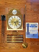 Emperor 120 Grandfather Clock Kit Dial Movement Weights Pendulum Chimes Chains