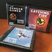 Lot 3 Suzanne Collins Audio Book Cd Set The Hunger Games Trilogy Catching Fire
