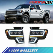 Full Led Projector Headlights Sequential Turn Signal For 2009-2014 Ford F-150