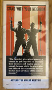 Vtg 1933 Us Gov Printing Office Farm Act Poster 16-928 Agriculture Wheat Meeting