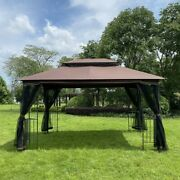 13ftx10ft Outdoor Patio Gazebo Canopy Tent For Lawn Garden Backyard And Deck