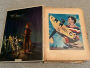 Vintage Wwii Era 50 Page Scrapbook Clippings Planes Military Patriotic Rockwell