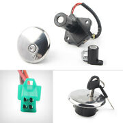 Ignition Switch Fuel Gas Cap Cover Lock Kit For Suzuki Gn250 1982-1988 Commuter