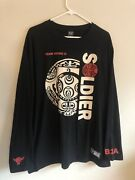 2000s Wwe Wrestling Team Bring It Soldier B2a The Rock Long Sleeve T-shirt Xl