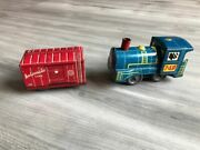 Rare Vintage Made In Germany - Tin Wind Up Train Toy Automatic Line