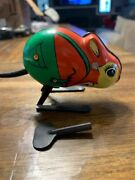Rare Vintage 1960andrsquos Fips West Germany Tin Mouse Wind Up Toy