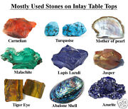 36 Marble Dining Table Top Inlay Rare Stones Round Center Coffee Table Ar1116
