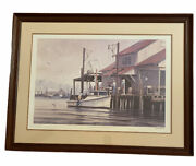 John Morton Barber A Good Dayandrsquos Catch Signed And Numbered Framed Nautical Print