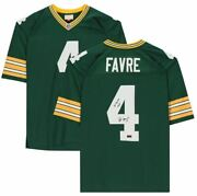 Brett Favre Green Bay Packers Autographed Green Mitchell And Ness Replica Jersey