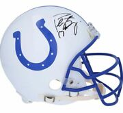 Peyton Manning Indianapolis Colts Signed Riddell Throwback Authentic Helmet