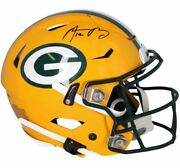 Aaron Rodgers Green Bay Packers Signed Riddell Speed Flex Authentic Helmet